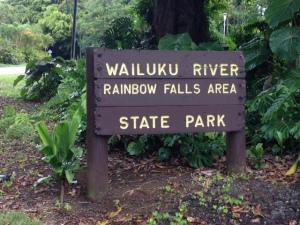 HawaiiFallsSign